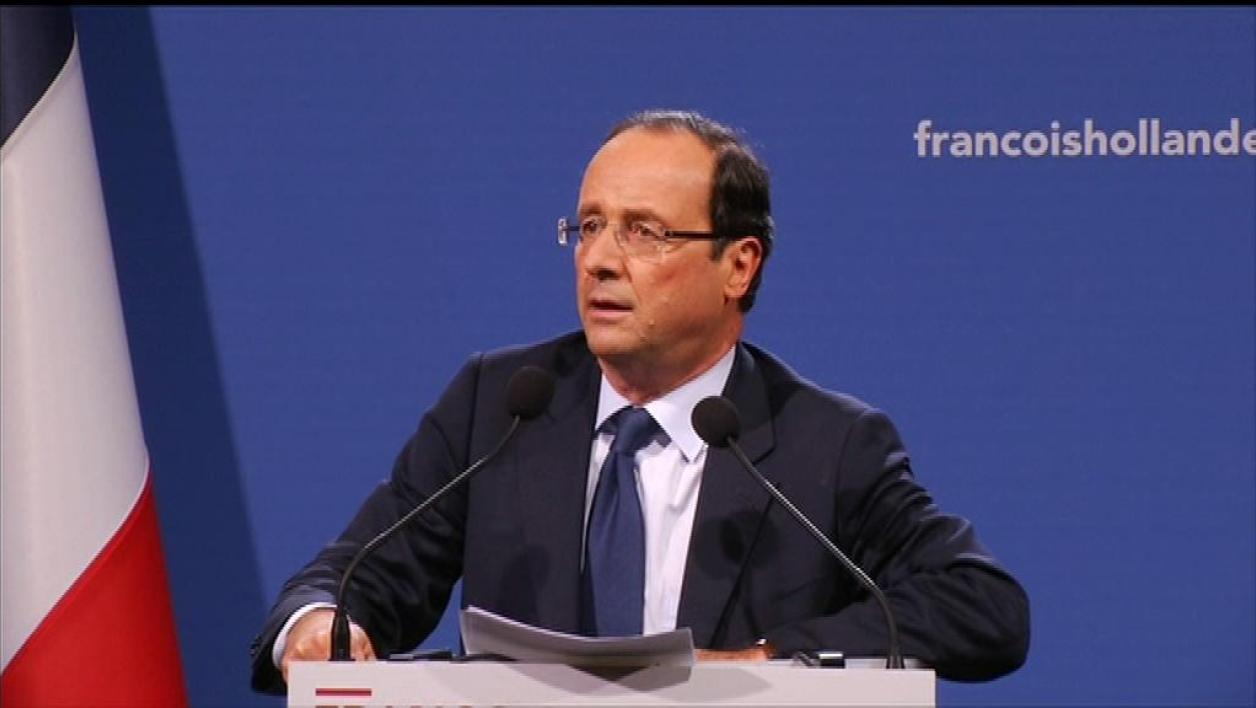 François Hollande en meeting à Nancy, en Lorraine