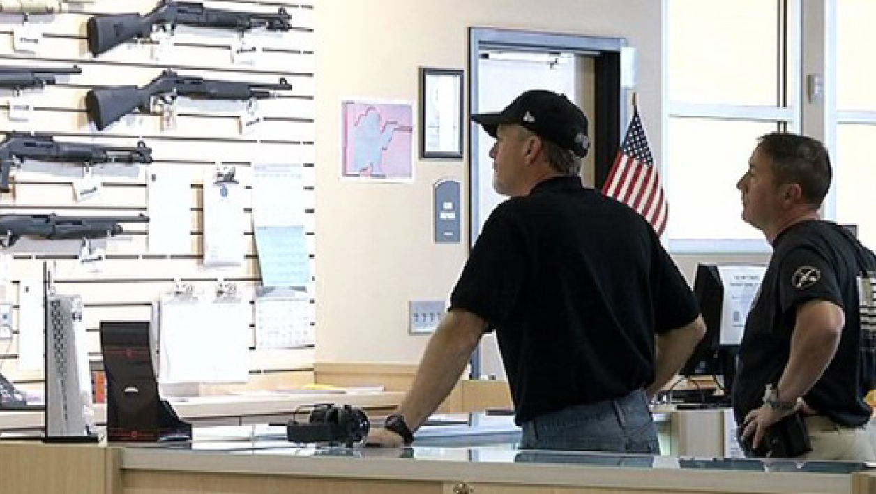 Un magasin d'armes aux Etats-Unis, en octobre 2012 (Photo d'illustration)