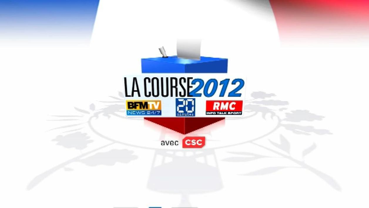 La Course 2012 : Sarkozy devance Hollande de 2 points au 1er tour