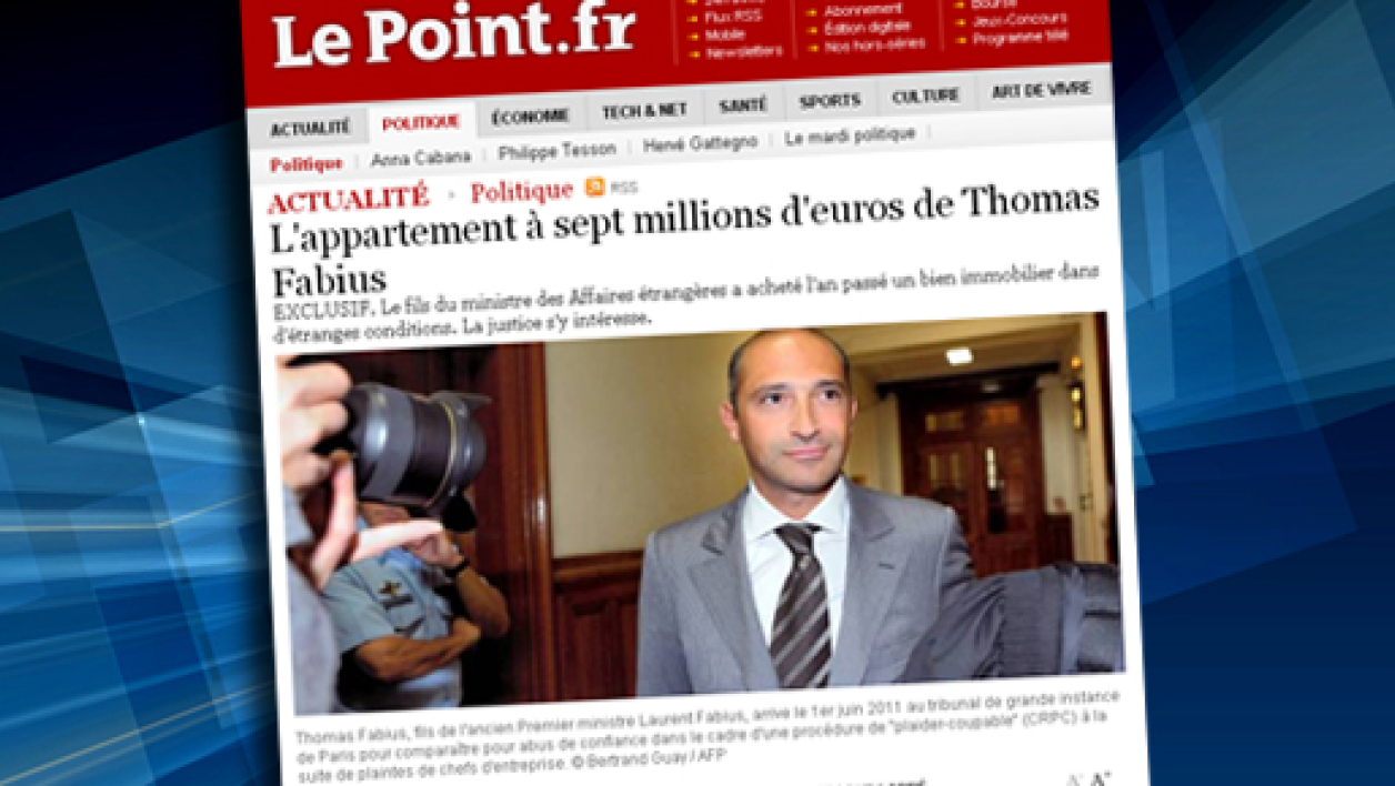 L'acquisition par Thomas Fabius d'un appartement à Paris d'une valeur de sept millions d'euros intrigue la justice