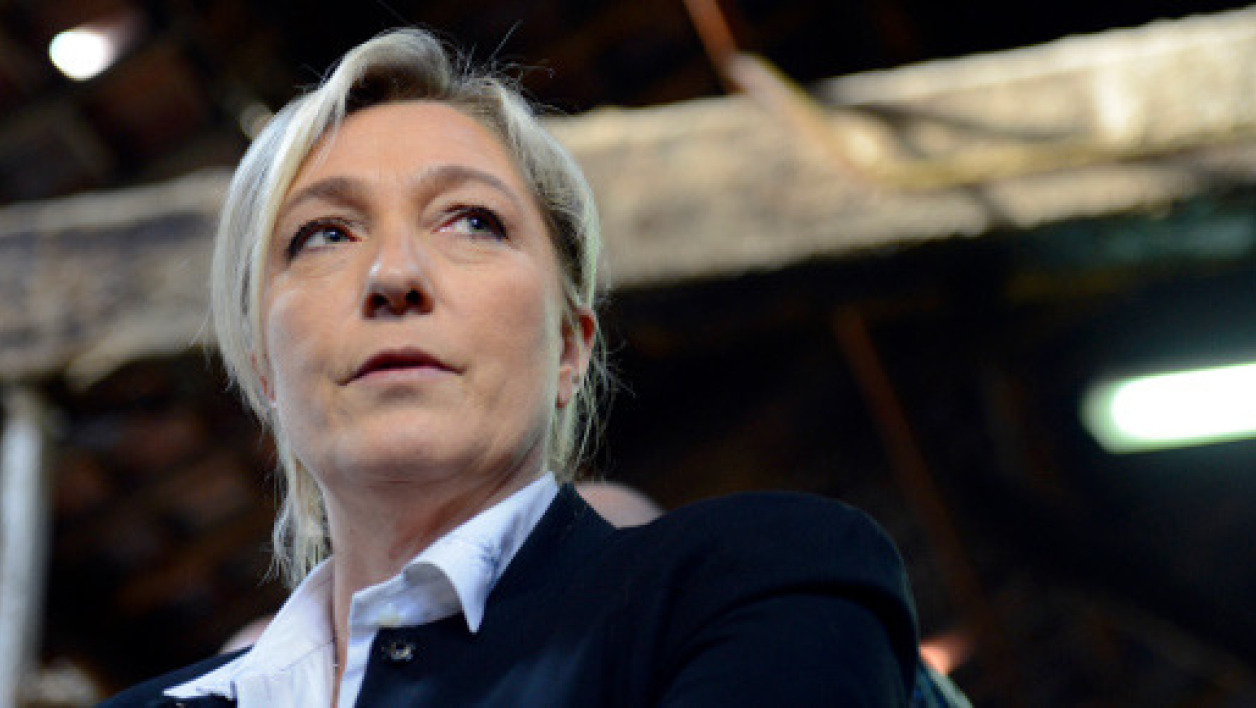La présidente du Front national Marine Le Pen .