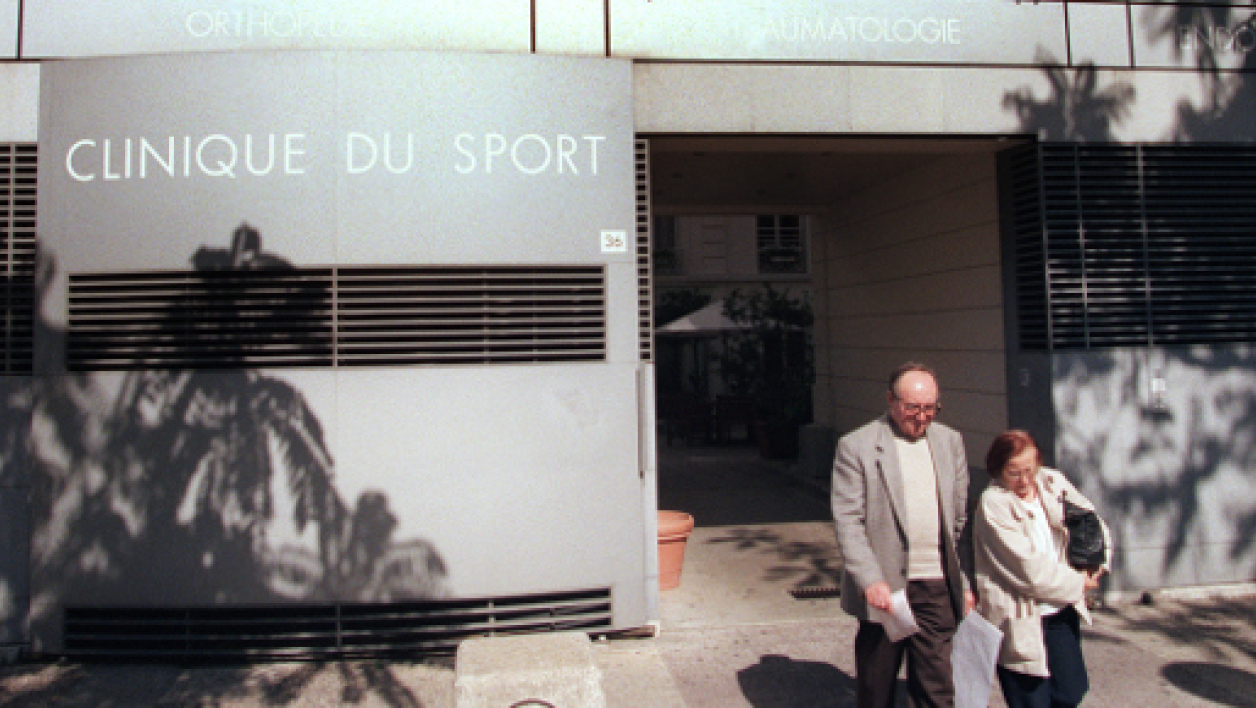 Photo d'archive prise le 11 septembre 1997 de la facade de la Clinique du Sport à Paris.