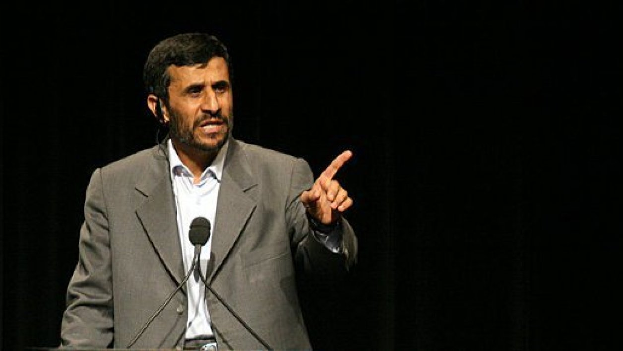 Mahmoud Ahmadinejad lors d'une intervention à l'université de Columbia, à New York en 2007.