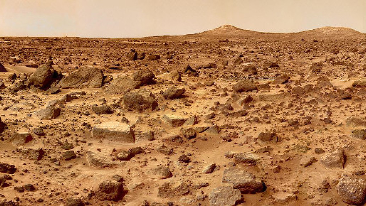 Photographie de la surface de Mars.