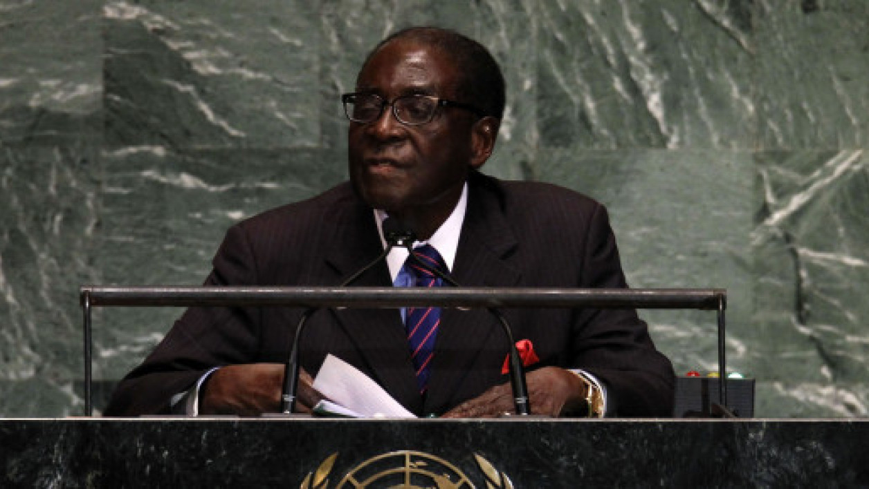 Robert Mugabe, à la tribune des Nations unies, mercredi 26 septembre 2012.