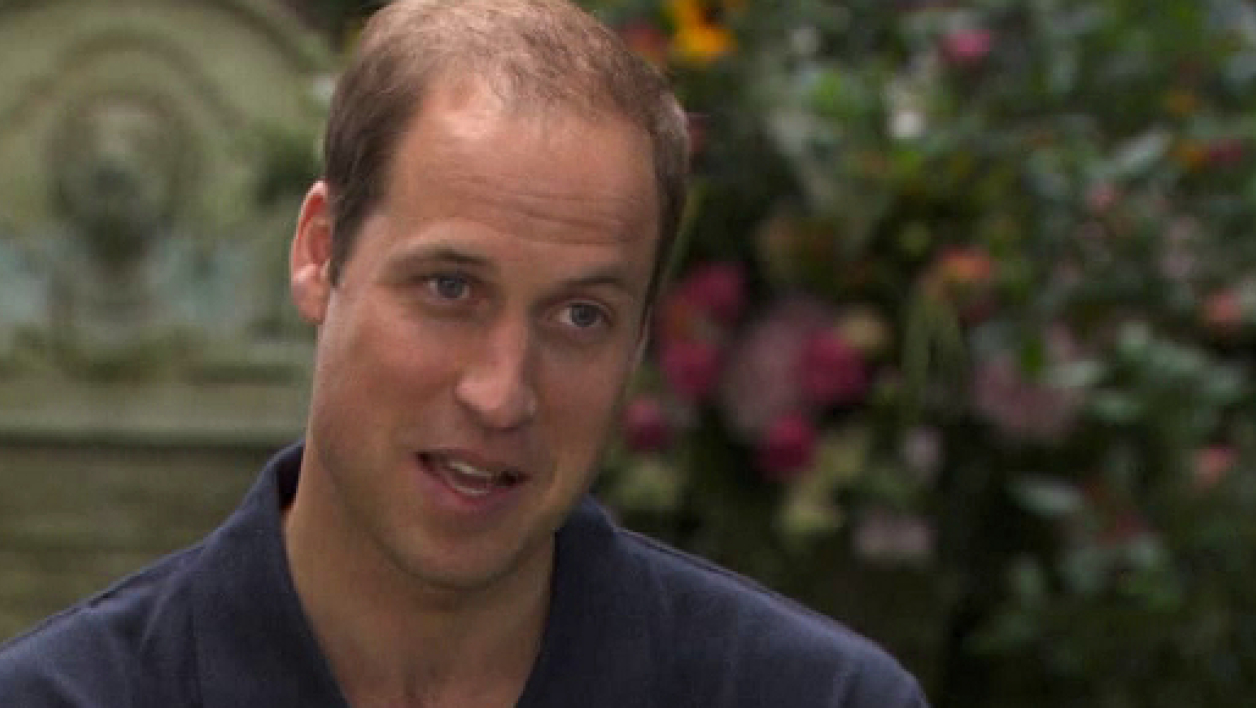Le prince William dans le jardin de sa résidence londonienne, où il a accordé son interview.