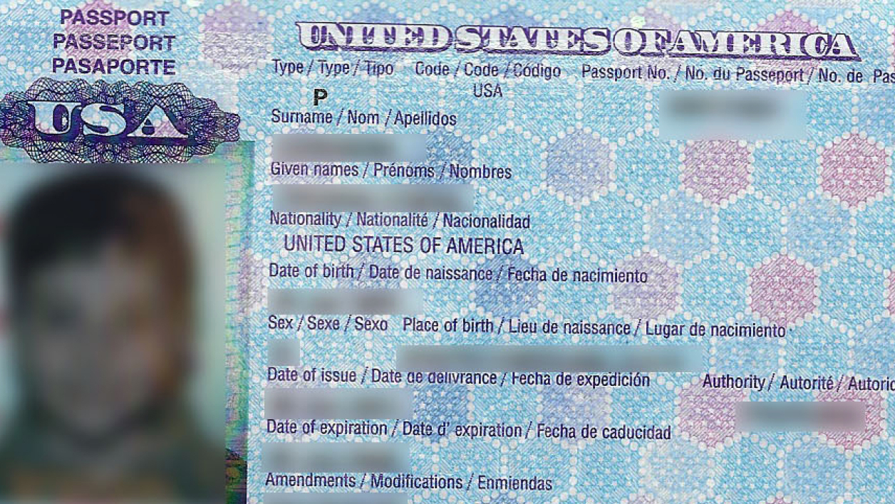 Passeport des Etats-Unis (photo d'illustration).