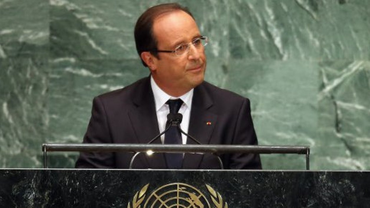 François Hollande à la tribune de l'Assemblée générale des Nations unies, à New York, en septembre 2012.