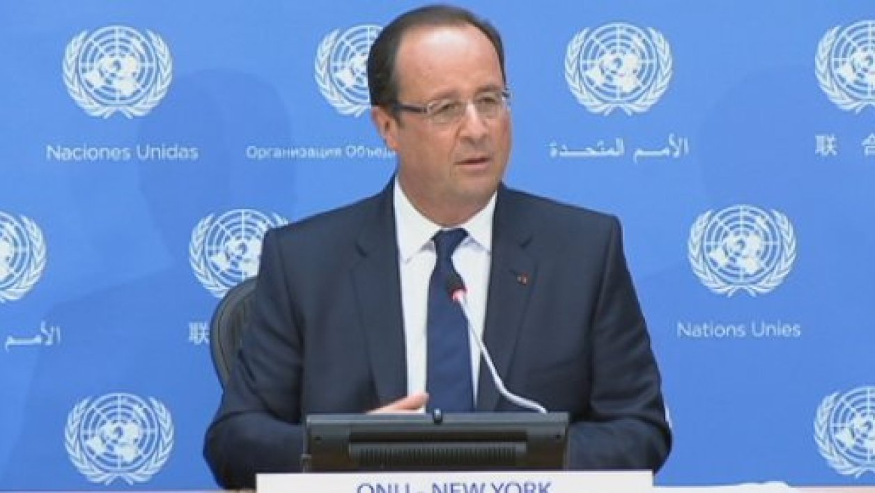 François Hollande au siège des Nations unies mardi à New York