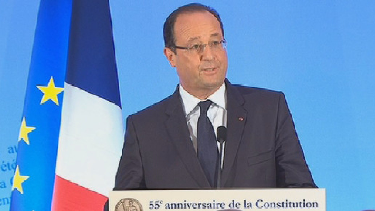 François Hollande au Conseil constitutionnel, le 3 octobre.