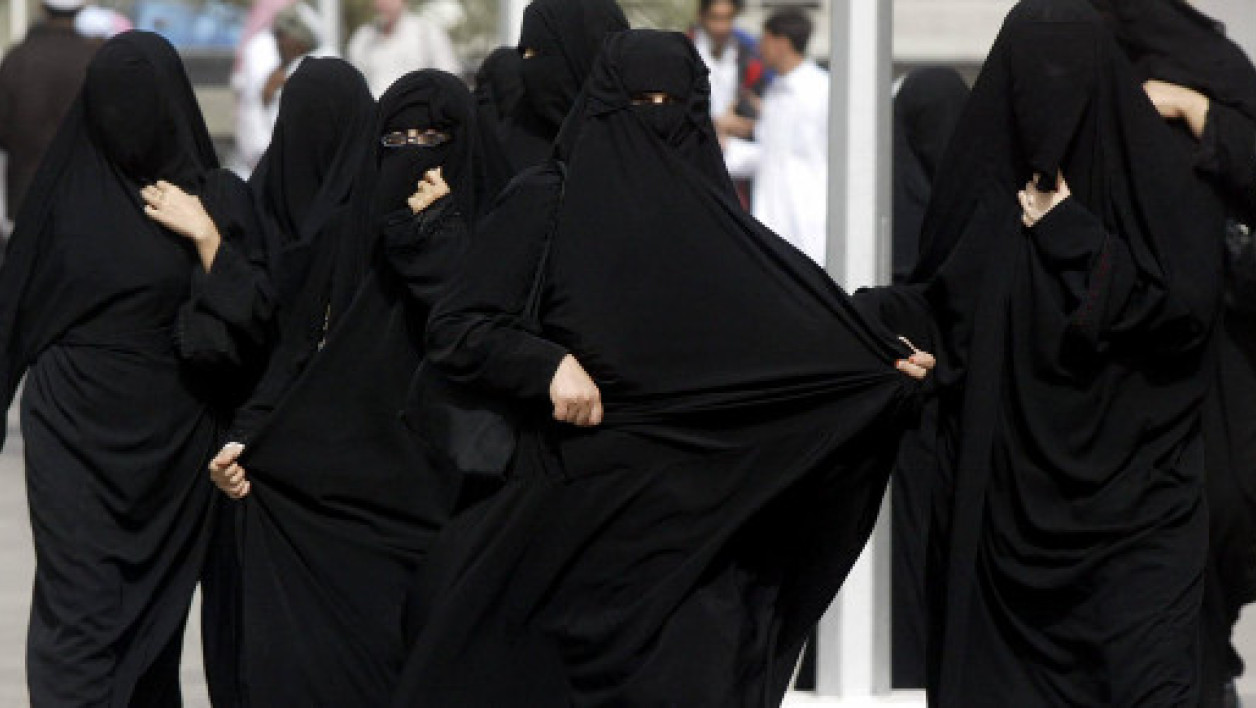 Femmes en burqa, en Arabie Saoudite (photo d'illustration)