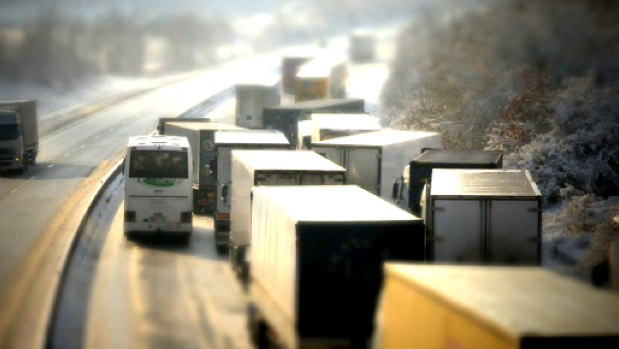 Blocage de camions. (illustration)