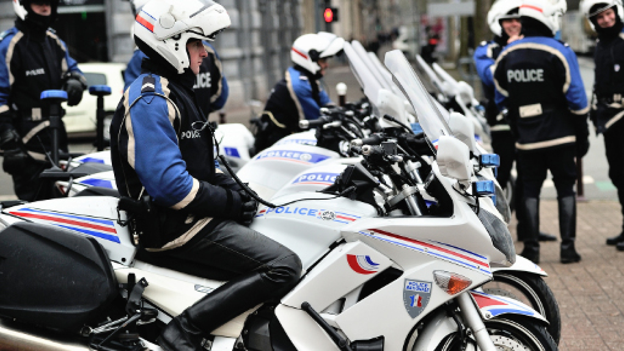 Motard de la police nationale (illustration).