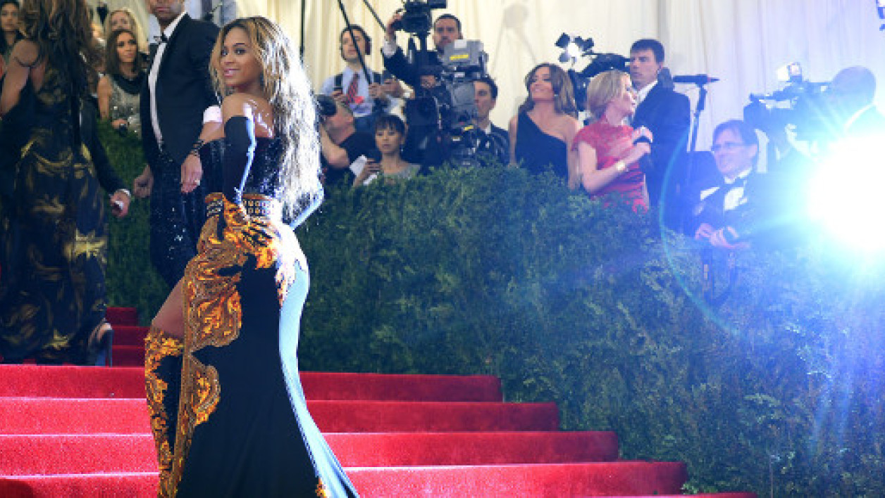 La chanteuse Beyoncé lors du Costume Institute Benefit  à New York, le 6 mai 2013