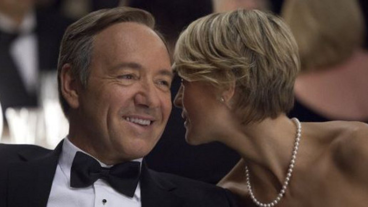 "Frank Underwood, le héros de la série ""House of Cards"", interprété par Kevin Spacey"