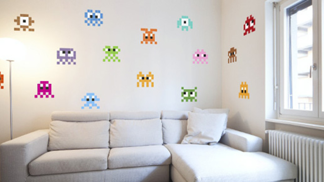 Sapce Invader s'invite dans le salon.