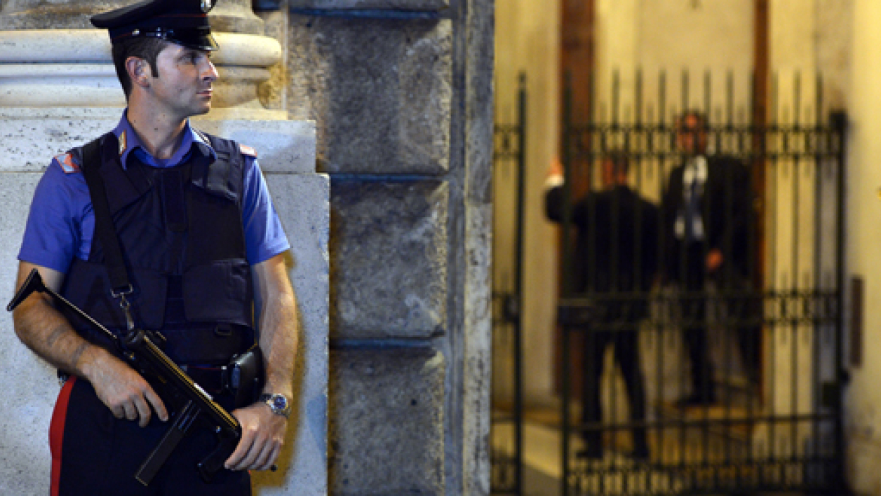 Un policier italien en faction. (Photo d'illustration)