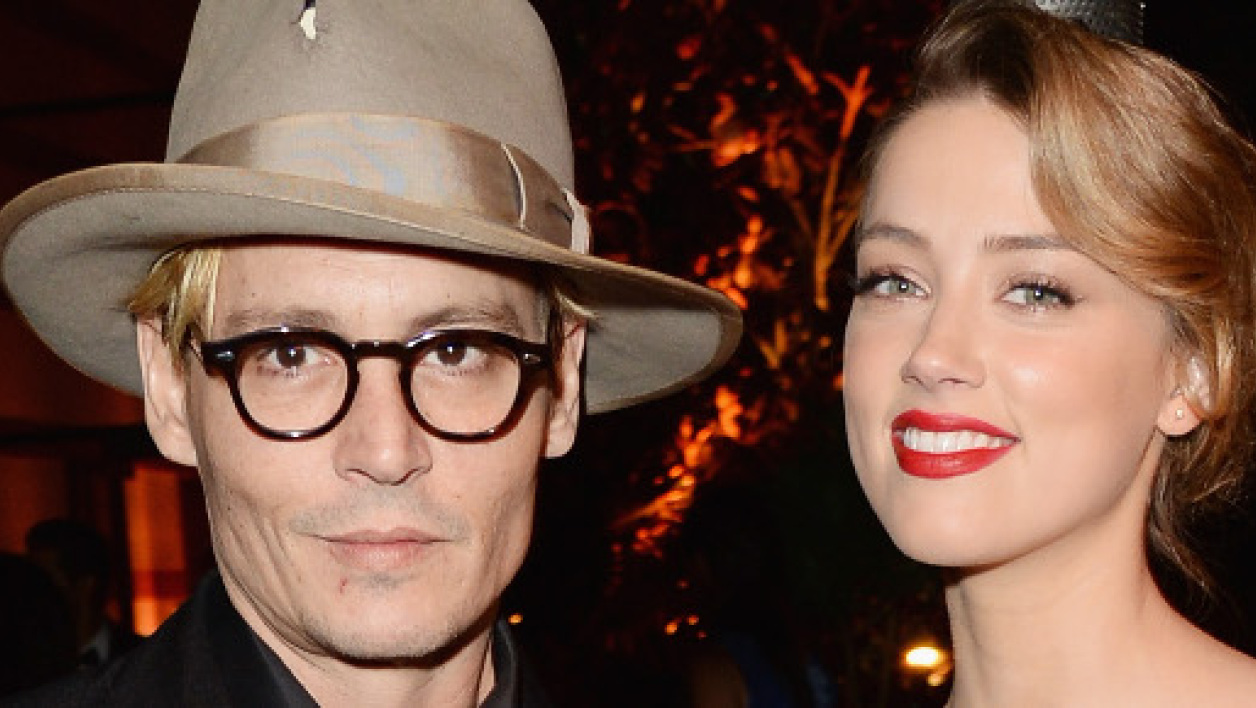 Johnny Depp et Amber Heard en janvier 2014 à Los Angeles.