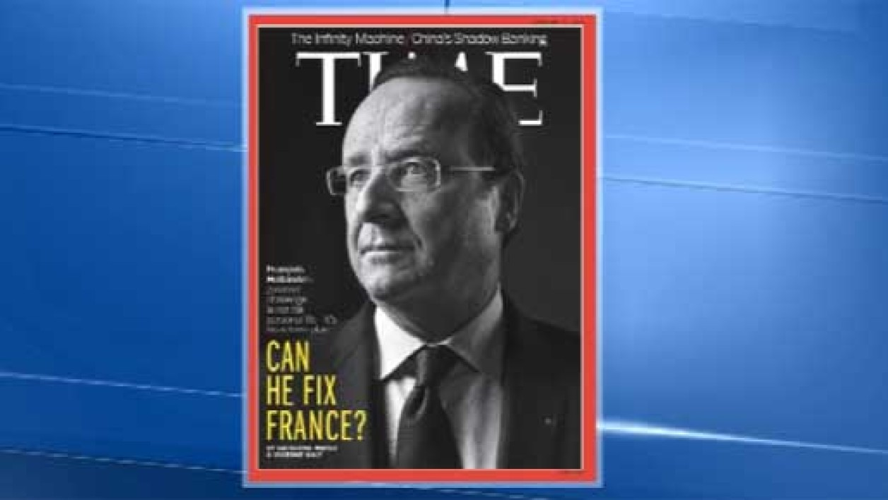 "Le magazine ""Time"" consacre sa une à François Hollande, avec la question: ""Peut-il réparer la France?"""
