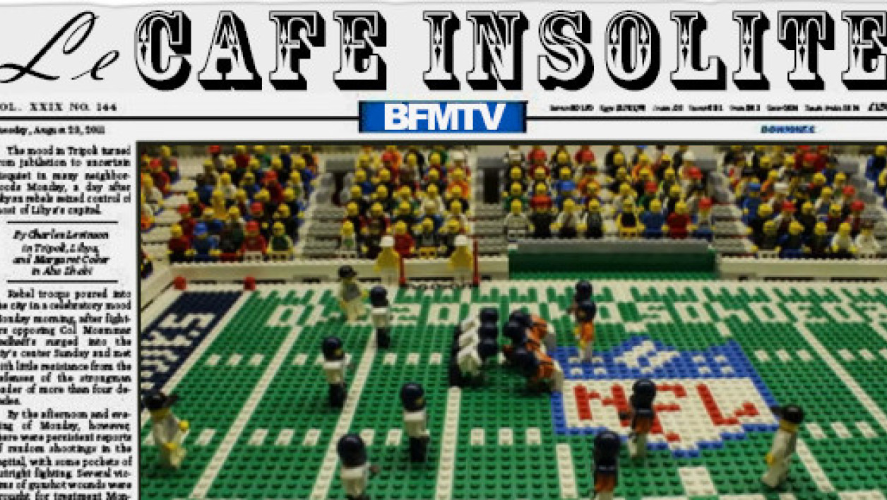 La reconstitution en Lego du Super Bowl 2014.