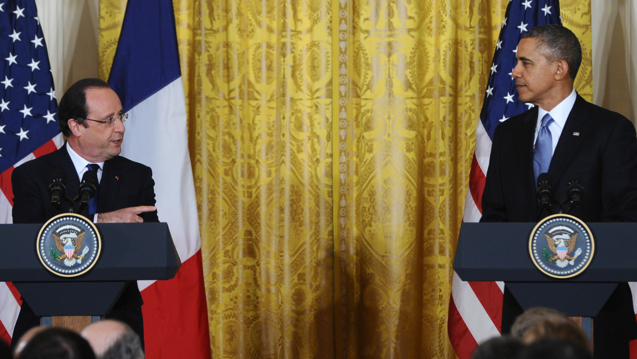 A la maison blanche hollande et obama unis sur les for Barack obama maison blanche