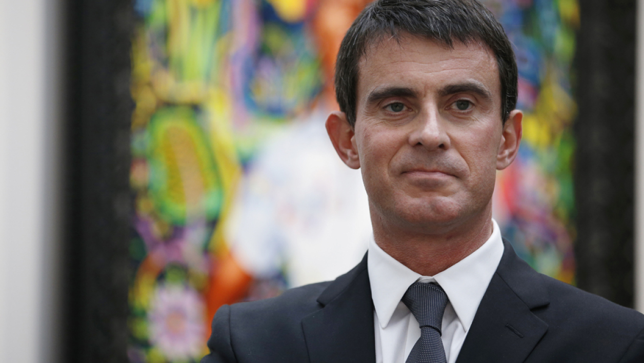 Manuel Valls à la Foire internationale d'art contemportain, le 22 octobre à Paris.