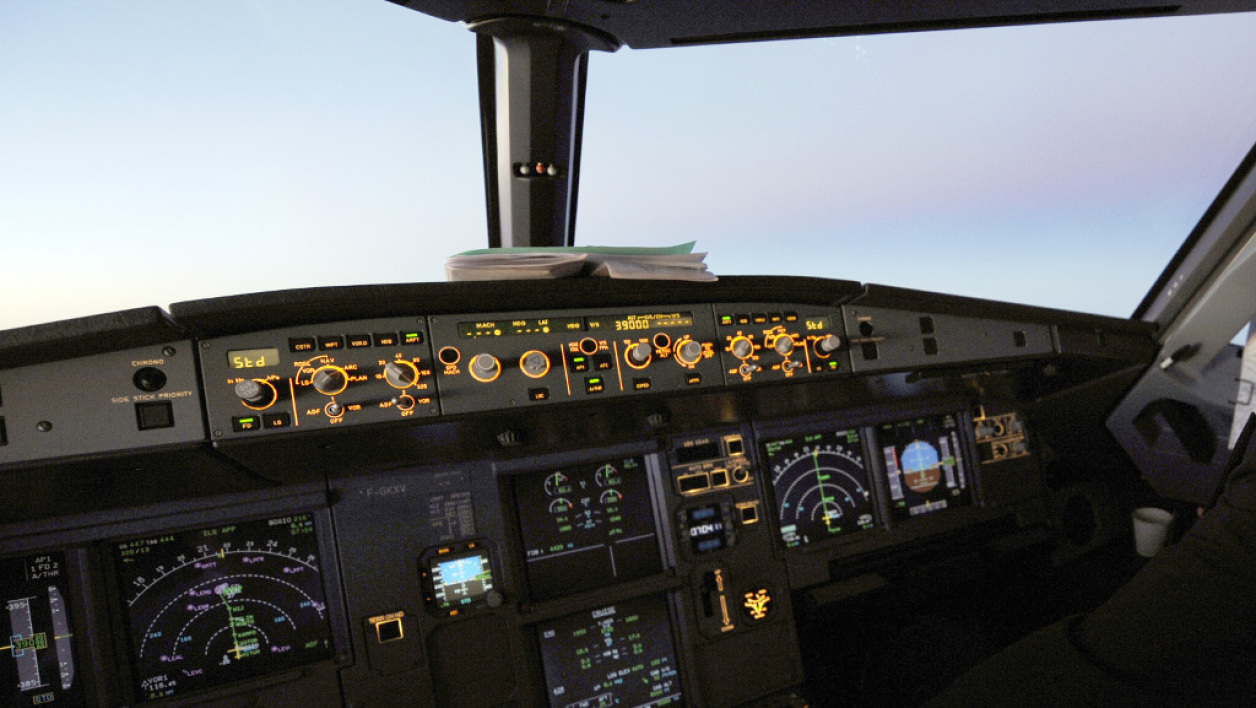 Le cockpit d'un Airbus A320, image d'illustration.