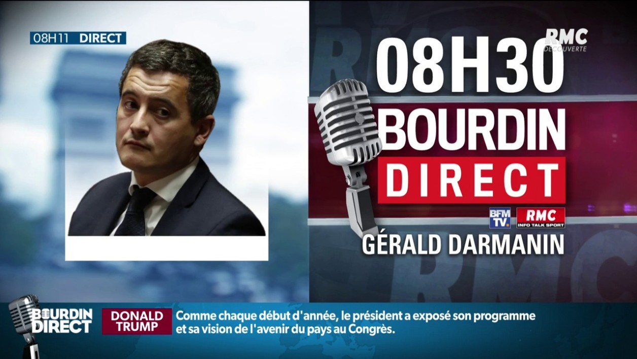 DIRECT RADIO - Gérald Darmanin répond aux questions de Jean-Jacques Bourdin