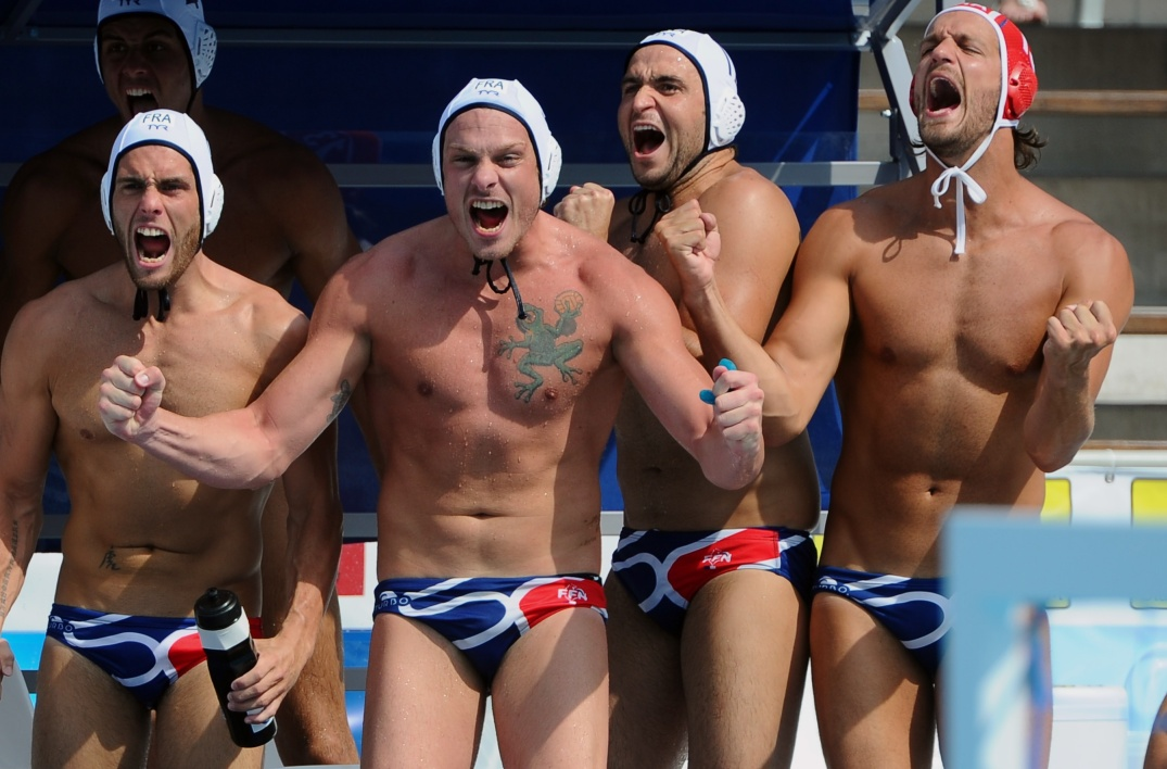 L'équipe de France de water-polo