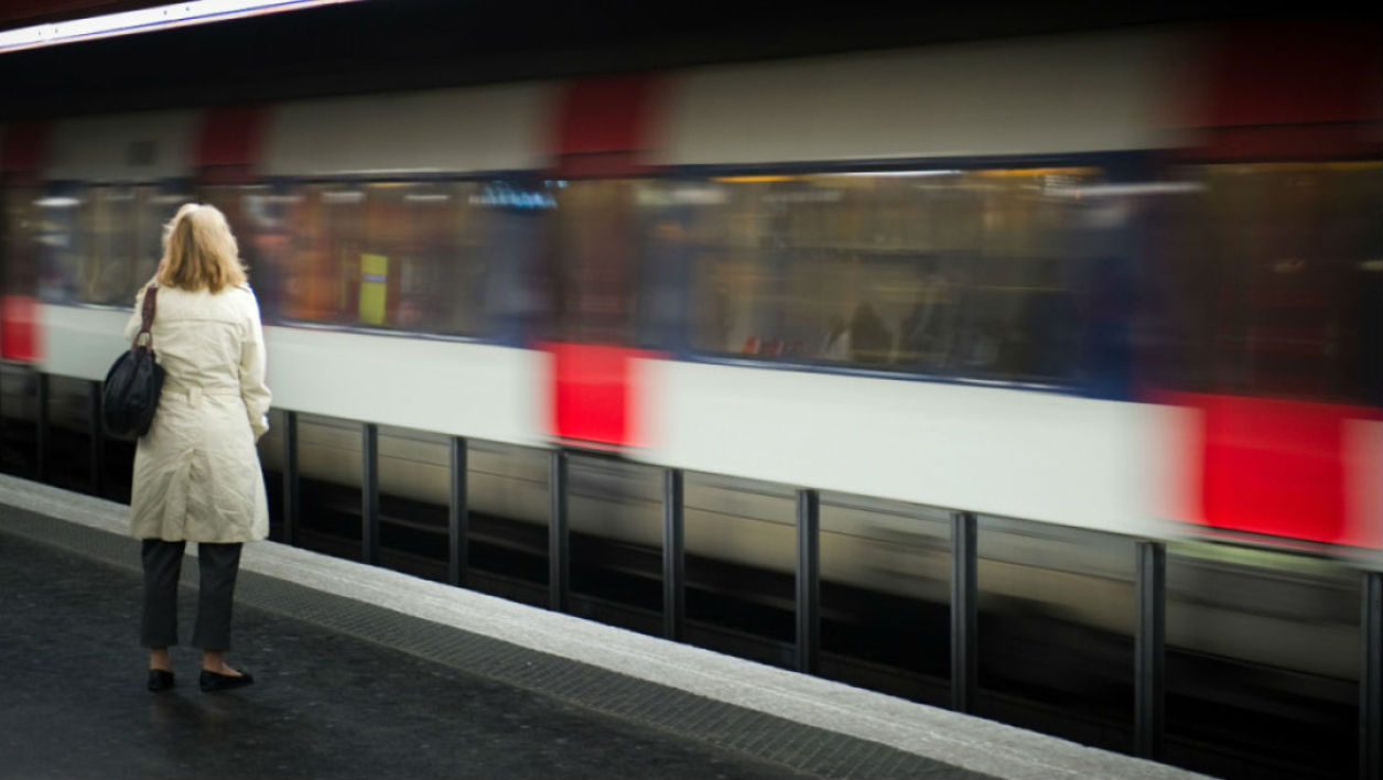 Le RER à la station Auber, à Paris. (photo d'illustration) -