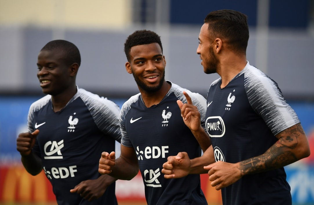 Thomas Lemar (au centre)