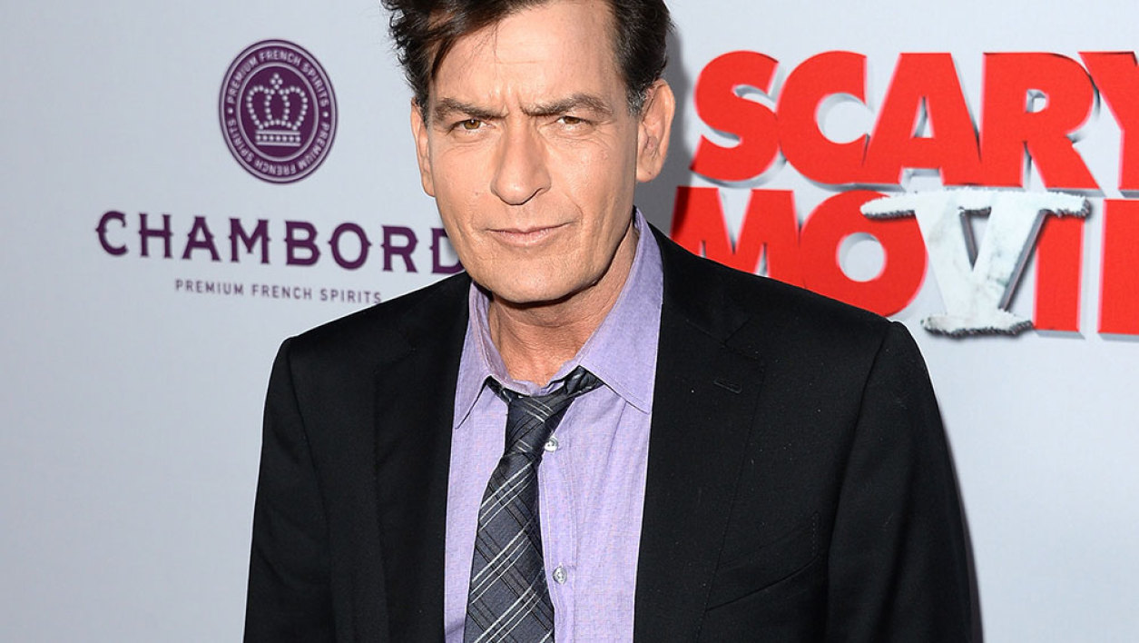 "Actor Charlie Sheen arrives at the Dimension Films' ""Scary Movie 5"" premiere at the ArcLight Cinemas Cinerama Dome on April 11, 2013 in Hollywood, California."