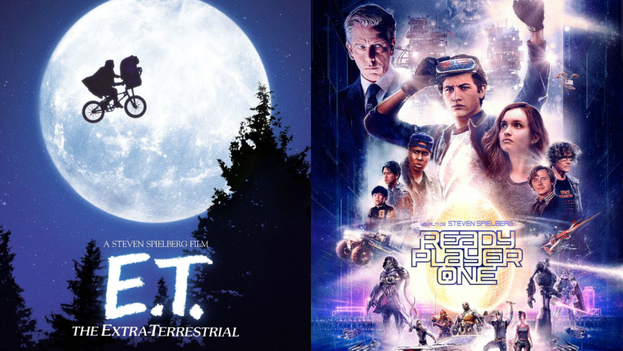 Affiches d'E.T. et de Ready Player One