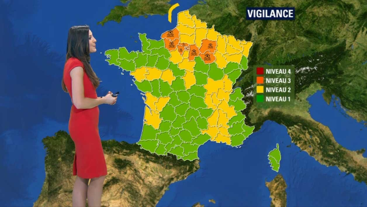 Encore 11 départements en vigilance orange mercredi.