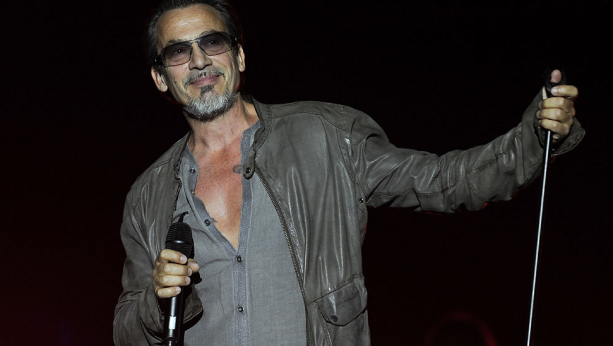 French singer Florent Pagny performs during the Francofolies Music Festival in La Rochelle on July 13, 2015.