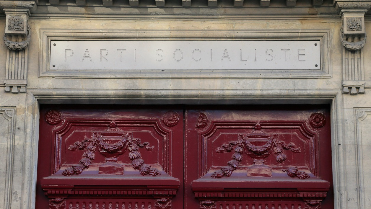 View of Socialist party's (PS) headquarters rue Solferino in Paris on April 15, 2014. AFP PHOTO/ JACQUES DEMARTHON JACQUES DEMARTHON / AFP