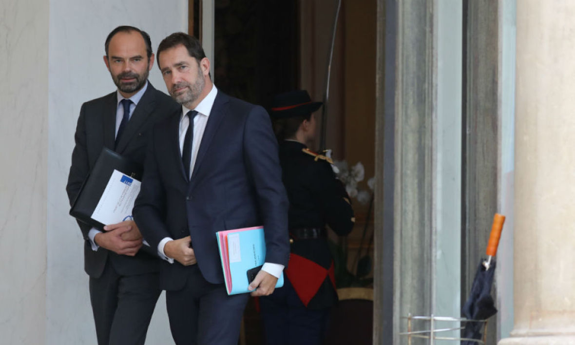 Édouard Philippe et Christophe Castaner - LUDOVIC MARIN / AFP