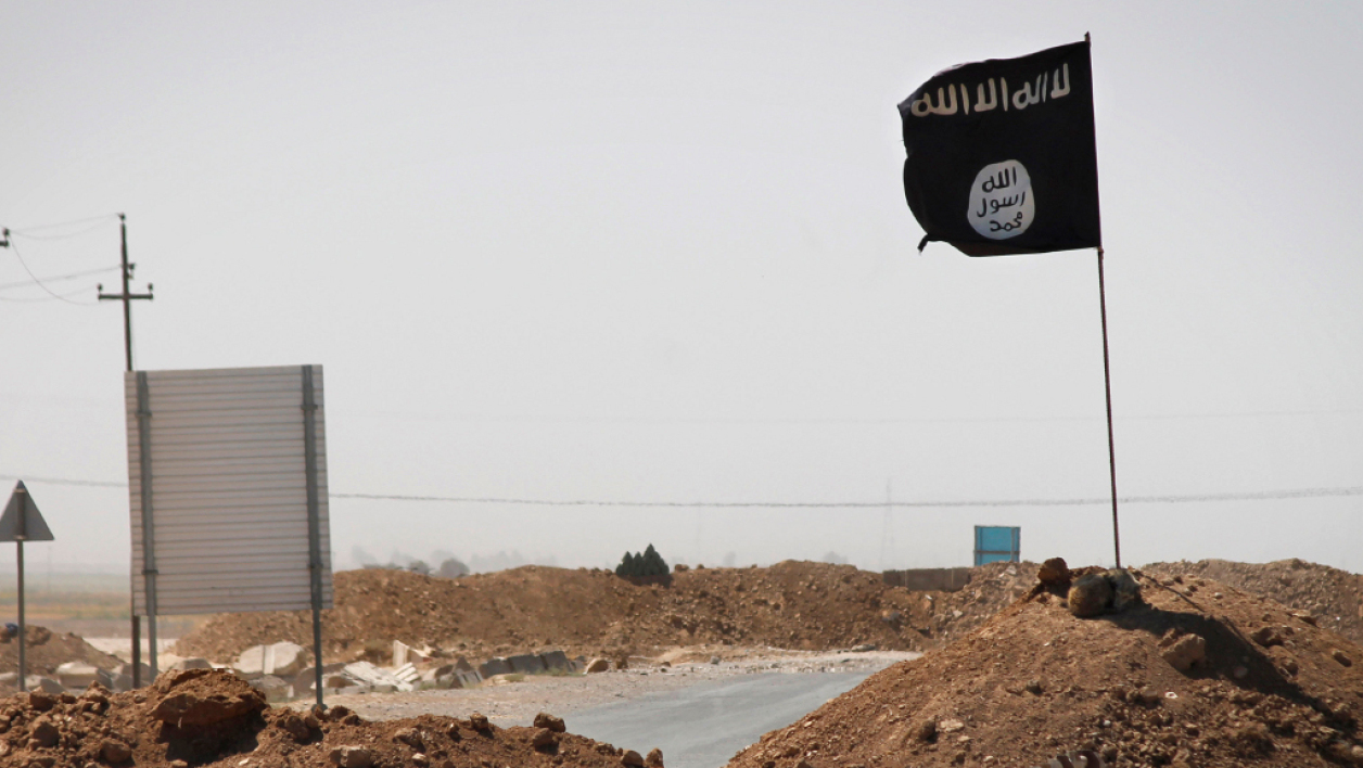 Un drapeau de Daesh, image d'illustration.