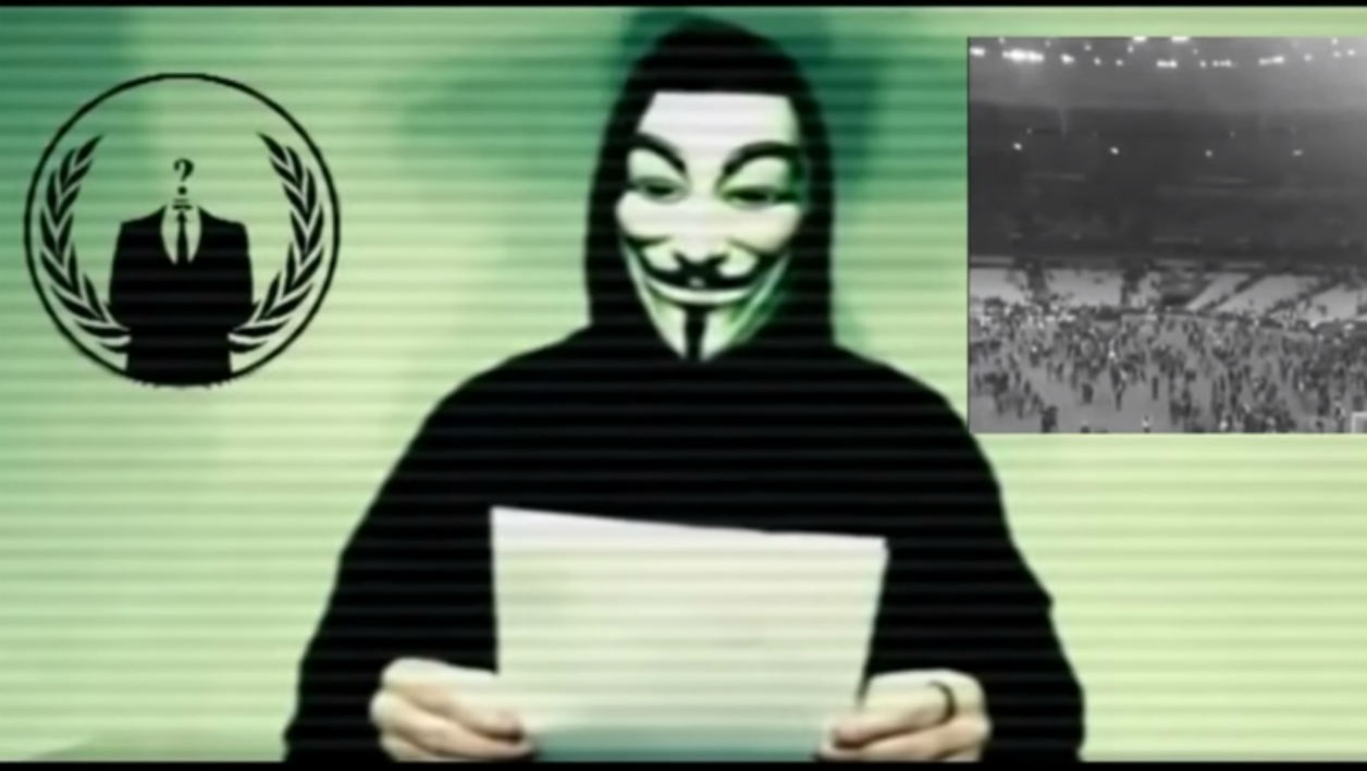 Les Anonymous déclarent la guerre à Daesh suite aux attentats du 13 novembre à Paris et Saint-Denis.