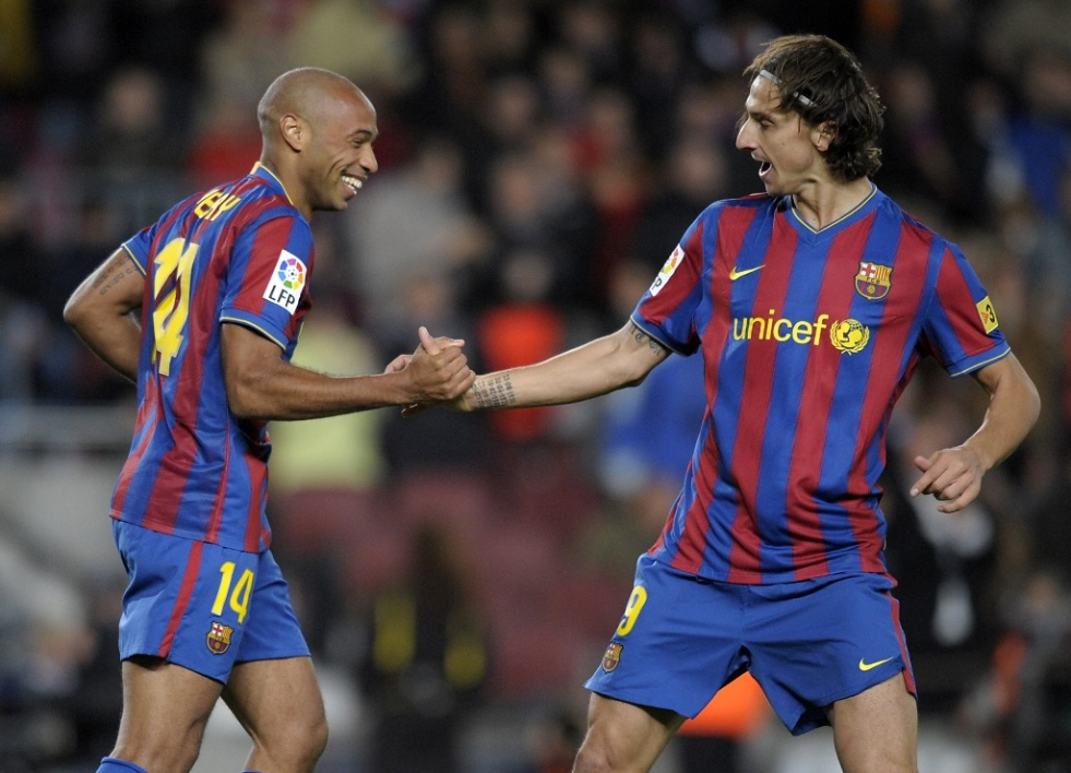 Thierry Henry et Zlatan Ibrahimovic