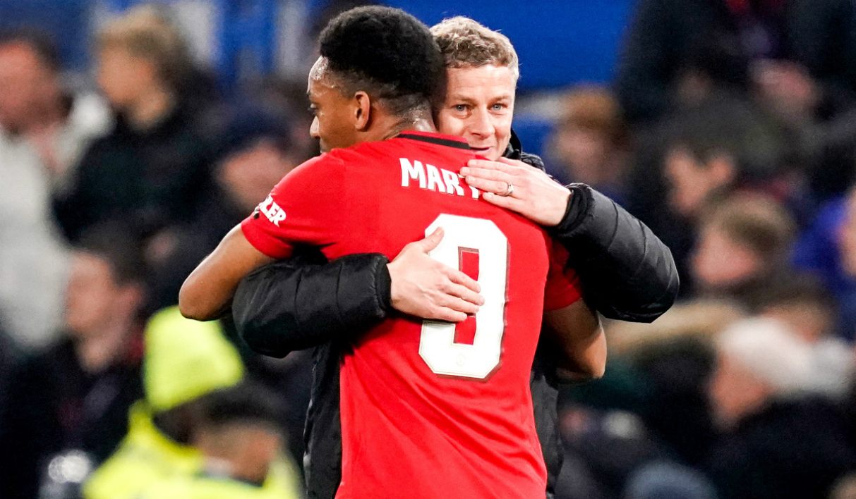 Anthony Martial avec Solskjaer