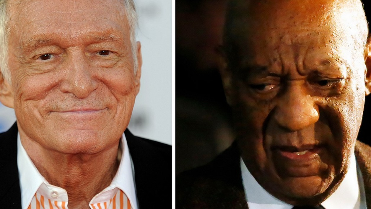 Hugh Hefner et Bill Cosby
