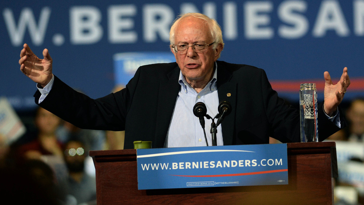 Bernie Sanders en meeting à Boston, dans le Massachusetts, le 3 octobre.