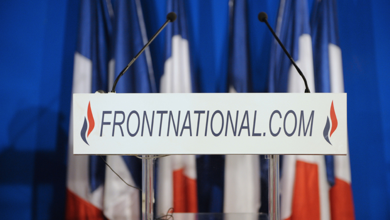 Une conférence de presse du Front national à Nanterre, en 2011 (Photo d'illustration)