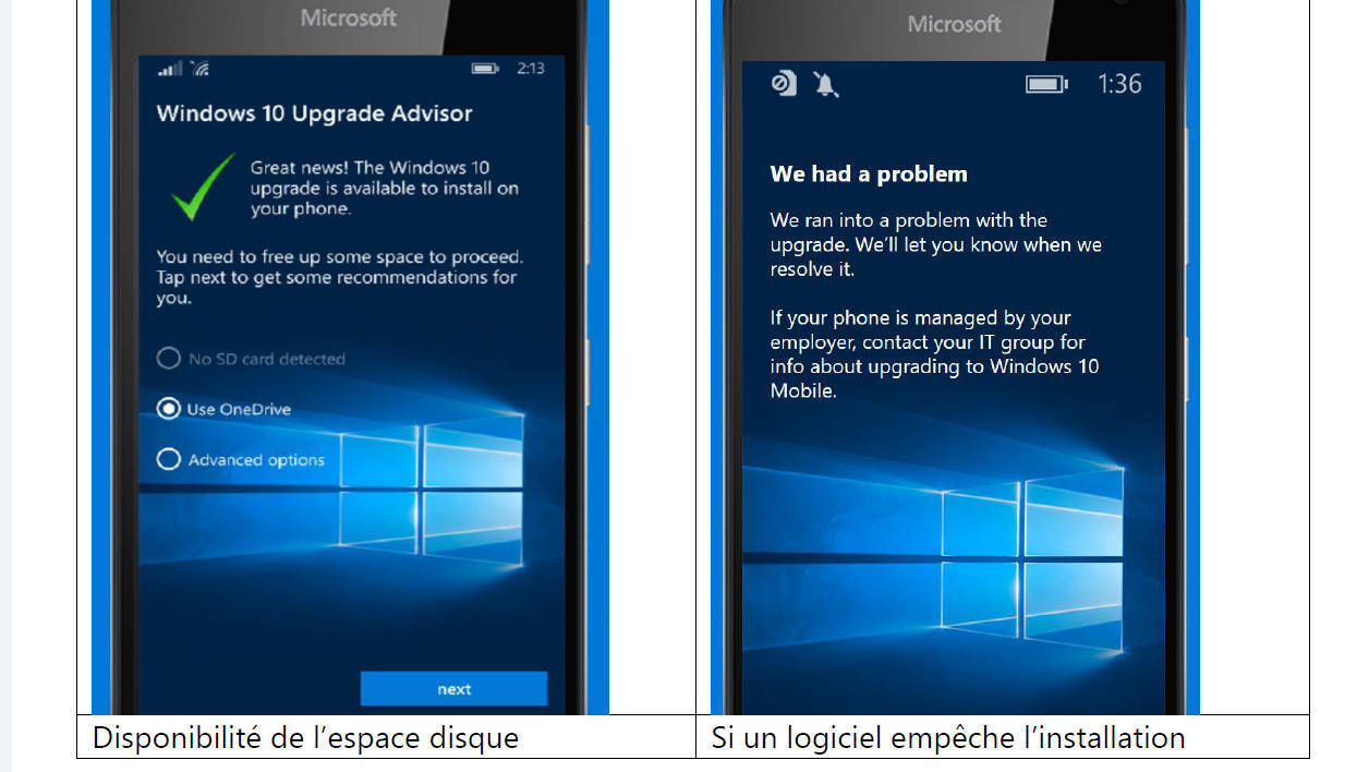 Windows 10 Mobile Lumia's update