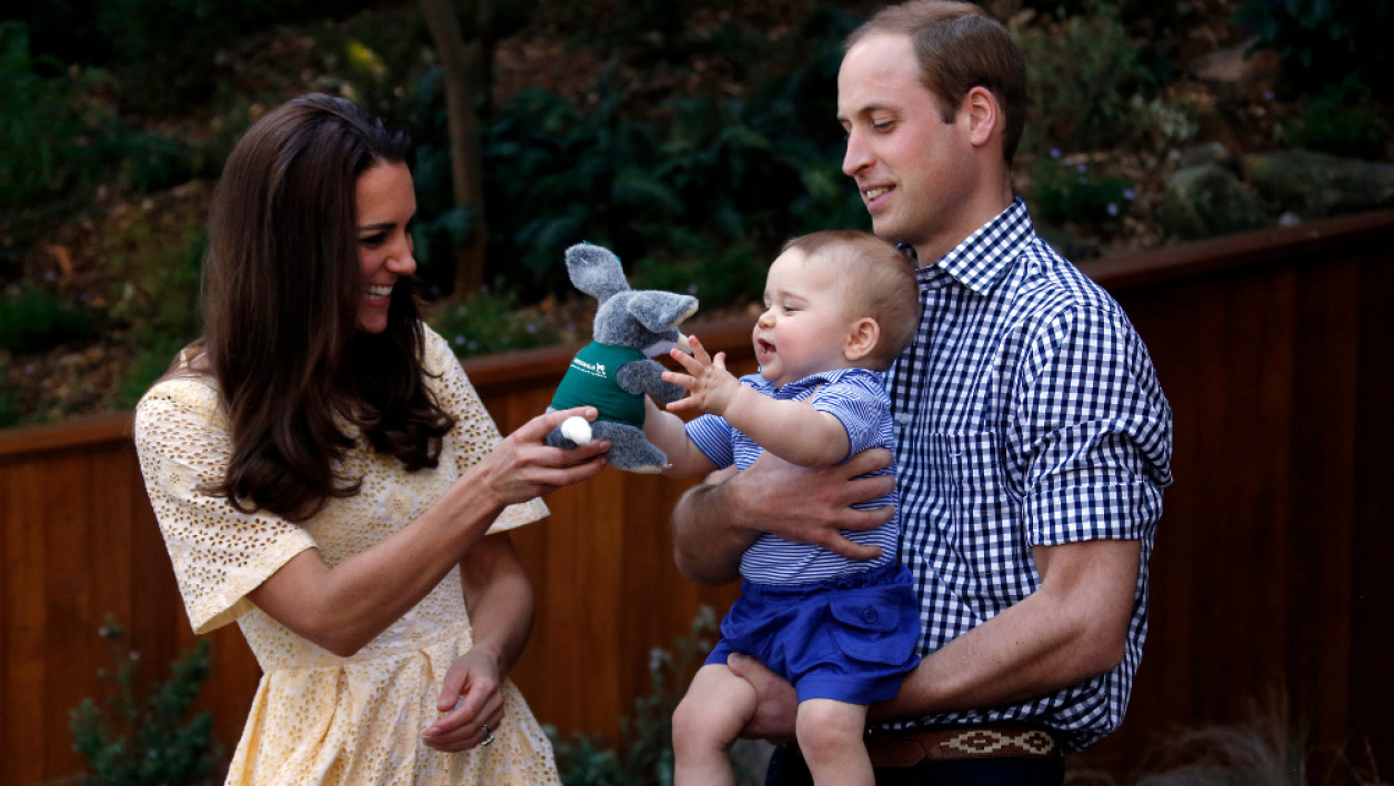 Le couple princier Kate et William avec leur premier enfant George