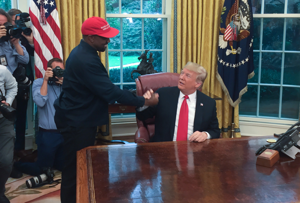 Kanye West et Donald Trump, le 11 octobre.