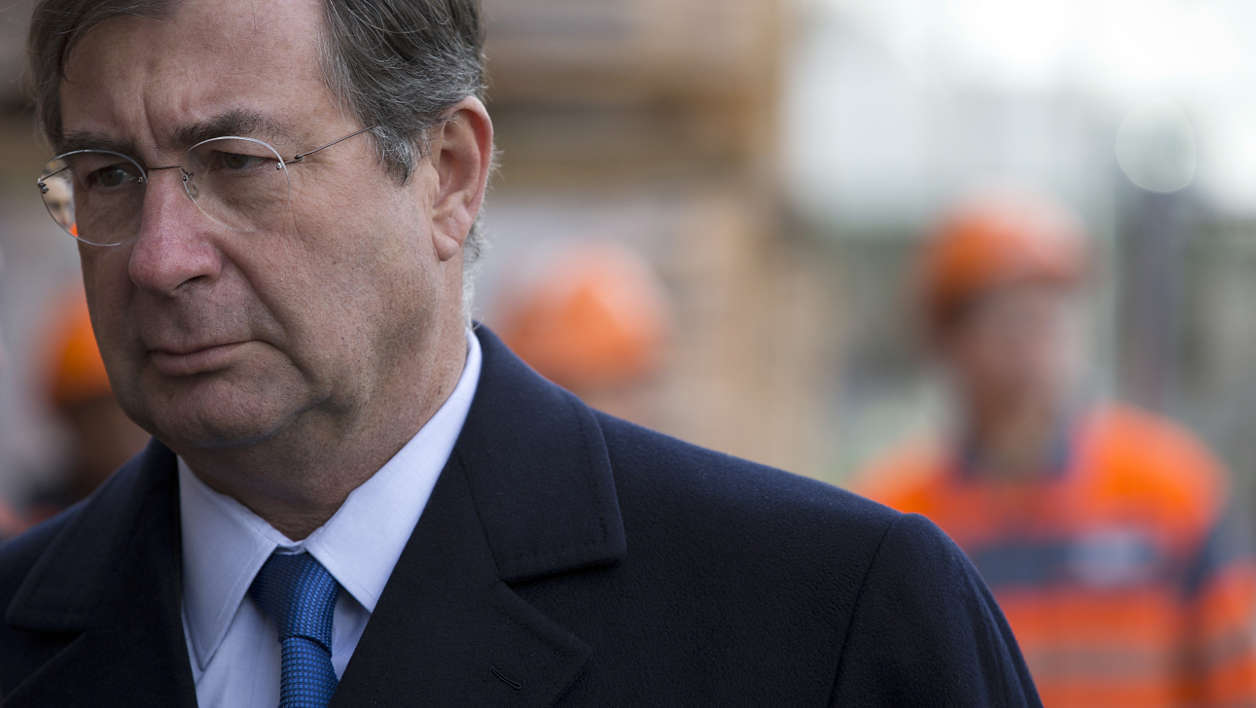 Bouygues construction giant Chairman Martin Bouygues is pictured during a visit of the construction site of the new French Defence ministry on January 17, 2014 in Paris. AFP PHOTO JOEL SAGET JOEL SAGET / AFP
