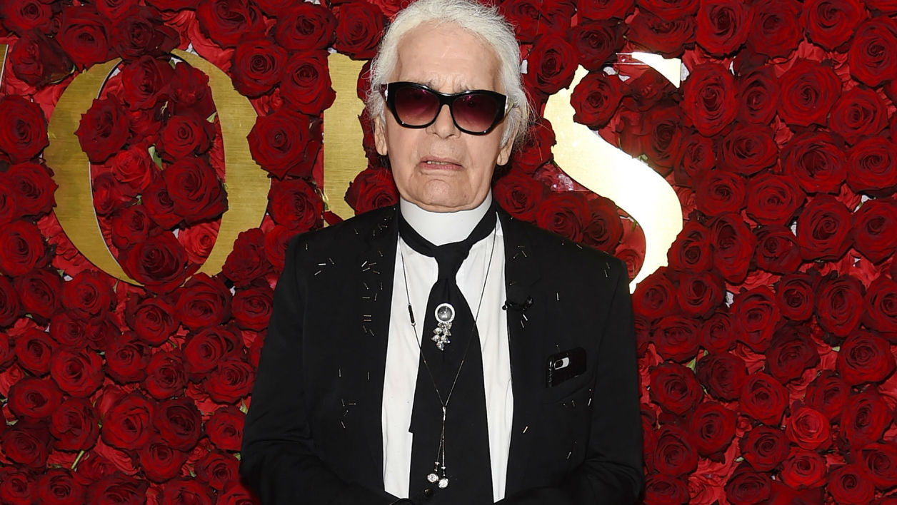 Karl Lagerfeld à New York en 2017