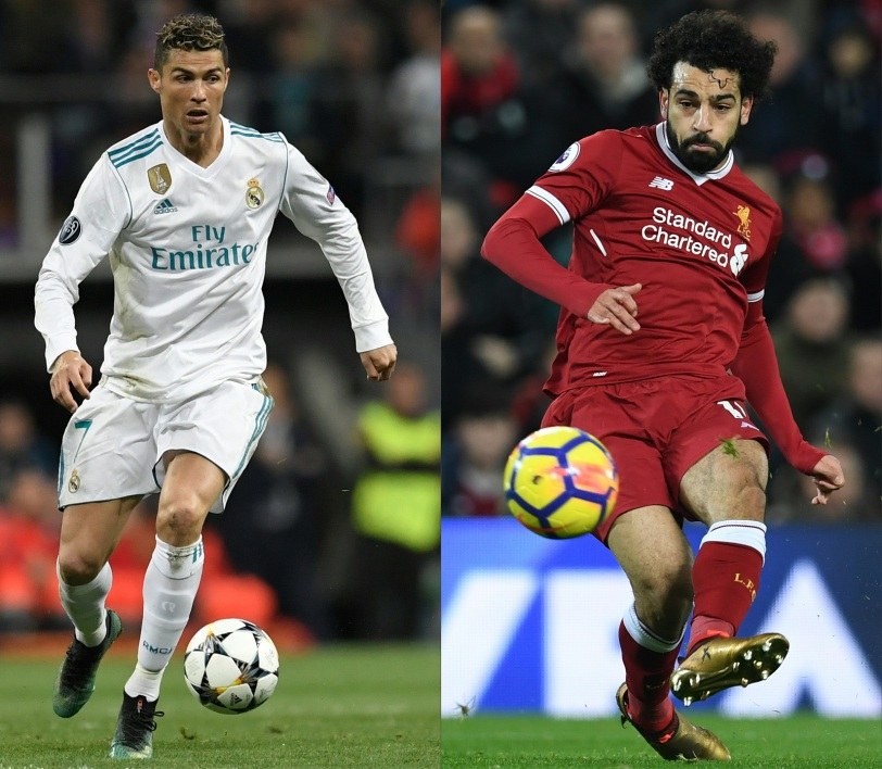 Cristiano Ronaldo (Real Madrid) face à Mohamed Salah (Liverpool)